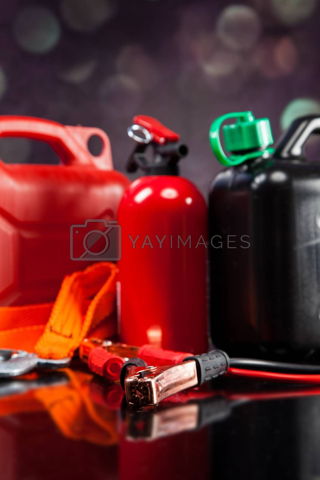 Royalty free image of Essential elements in any car by fikmik