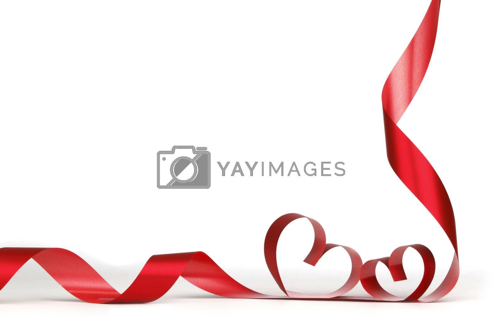 Royalty free image of Ribbon hearts frame by Yellowj