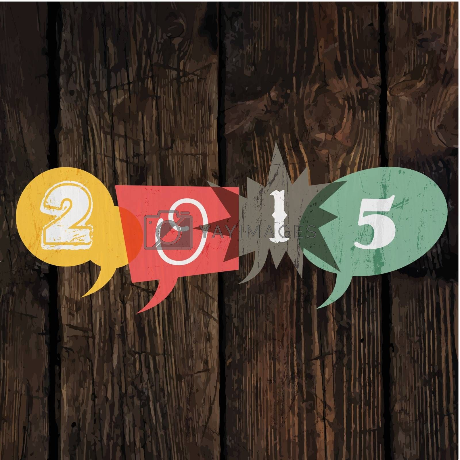Royalty free image of Happy New Year 2015 Greeting Card by pashabo