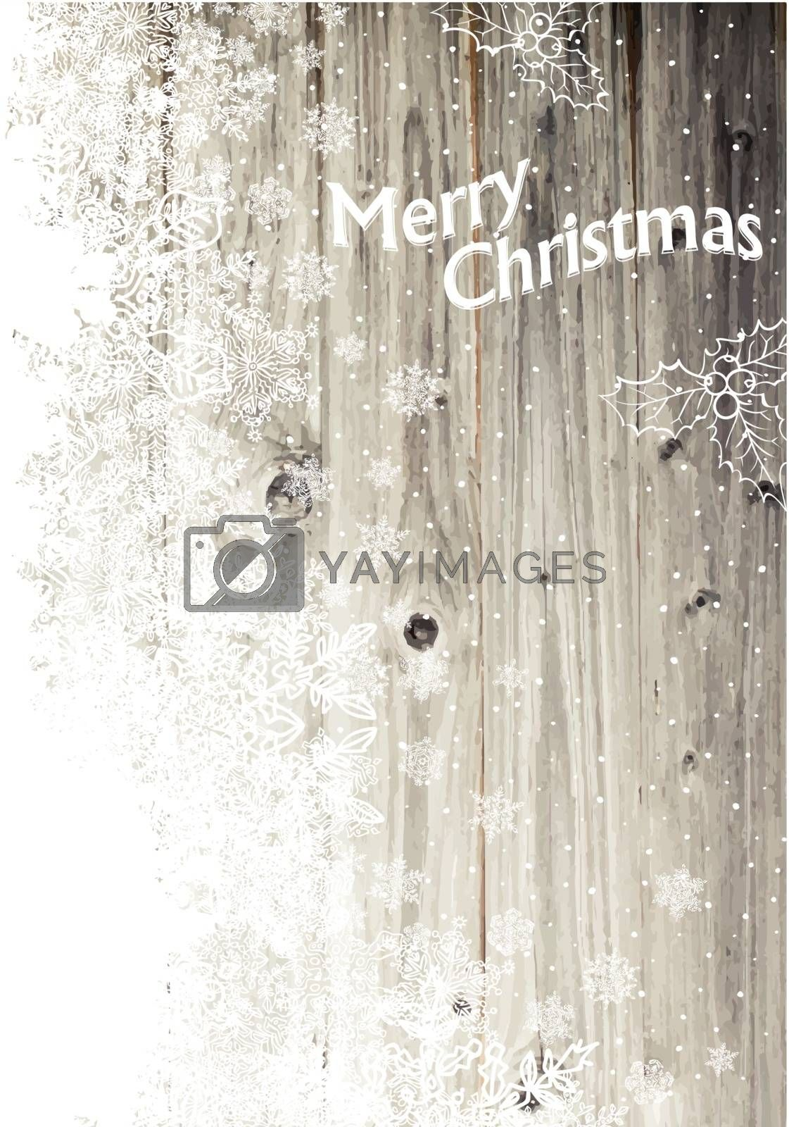 Royalty free image of Vintage Merry Christmas Greeting Card. Vertical Design, Isolated by pashabo
