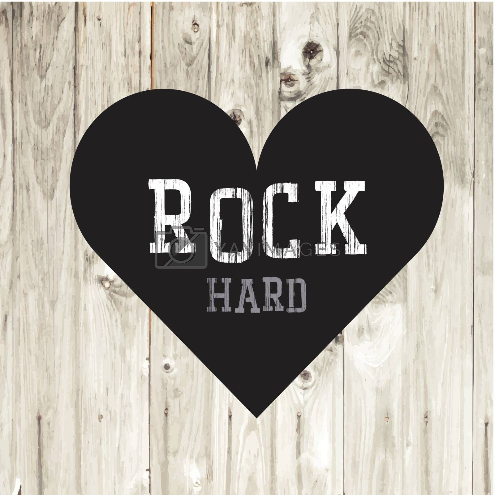 Royalty free image of Hard Rock Concept Card by pashabo