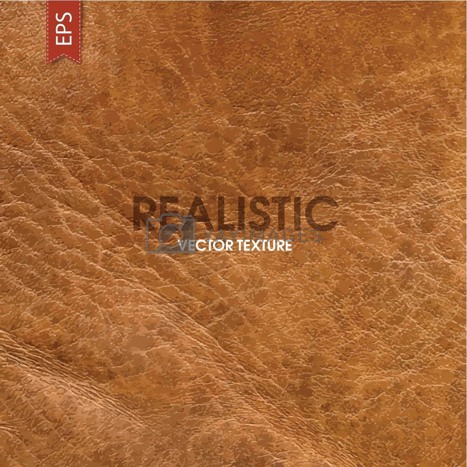 Royalty free image of Realistic leather vector texture by pashabo