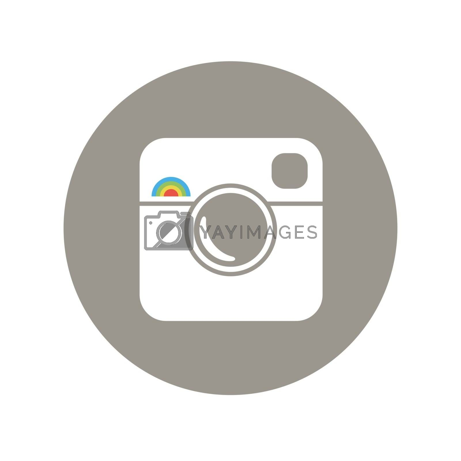 Royalty free image of Hipster Photo Icon with Rainbow Sign by pashabo