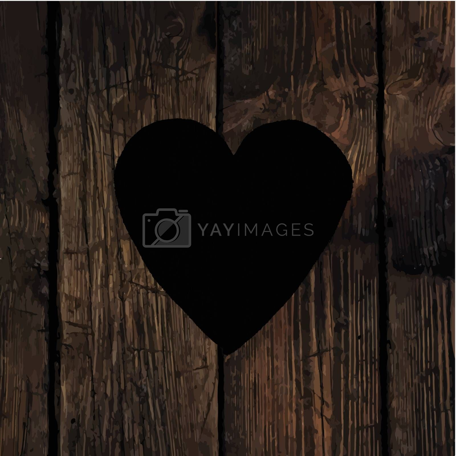 Royalty free image of Heart symbol on wooden texture. by pashabo