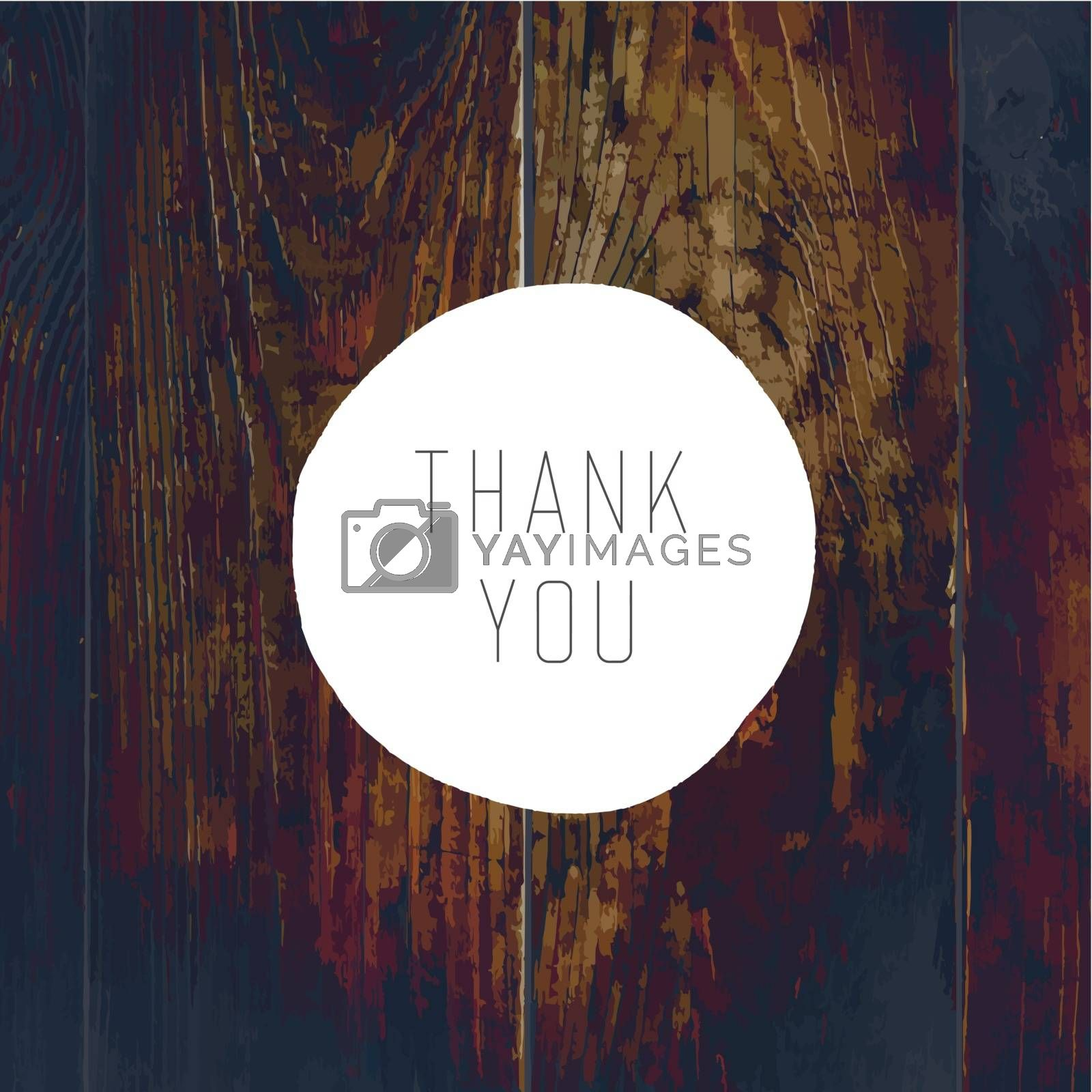 Royalty free image of Thank You Card. On Wooden Texture with Cross Process Effect by pashabo