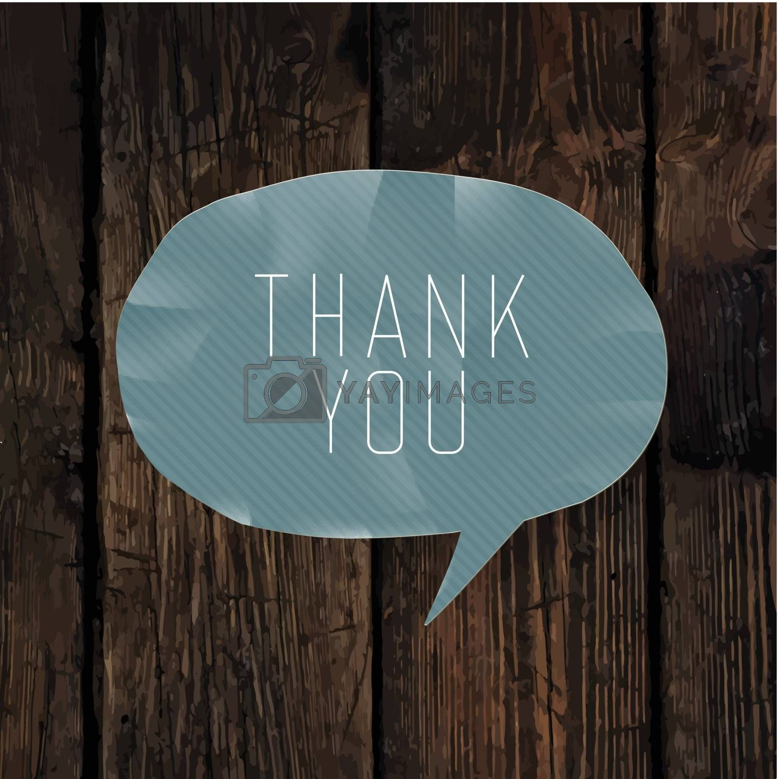 Royalty free image of Thank you card design by pashabo