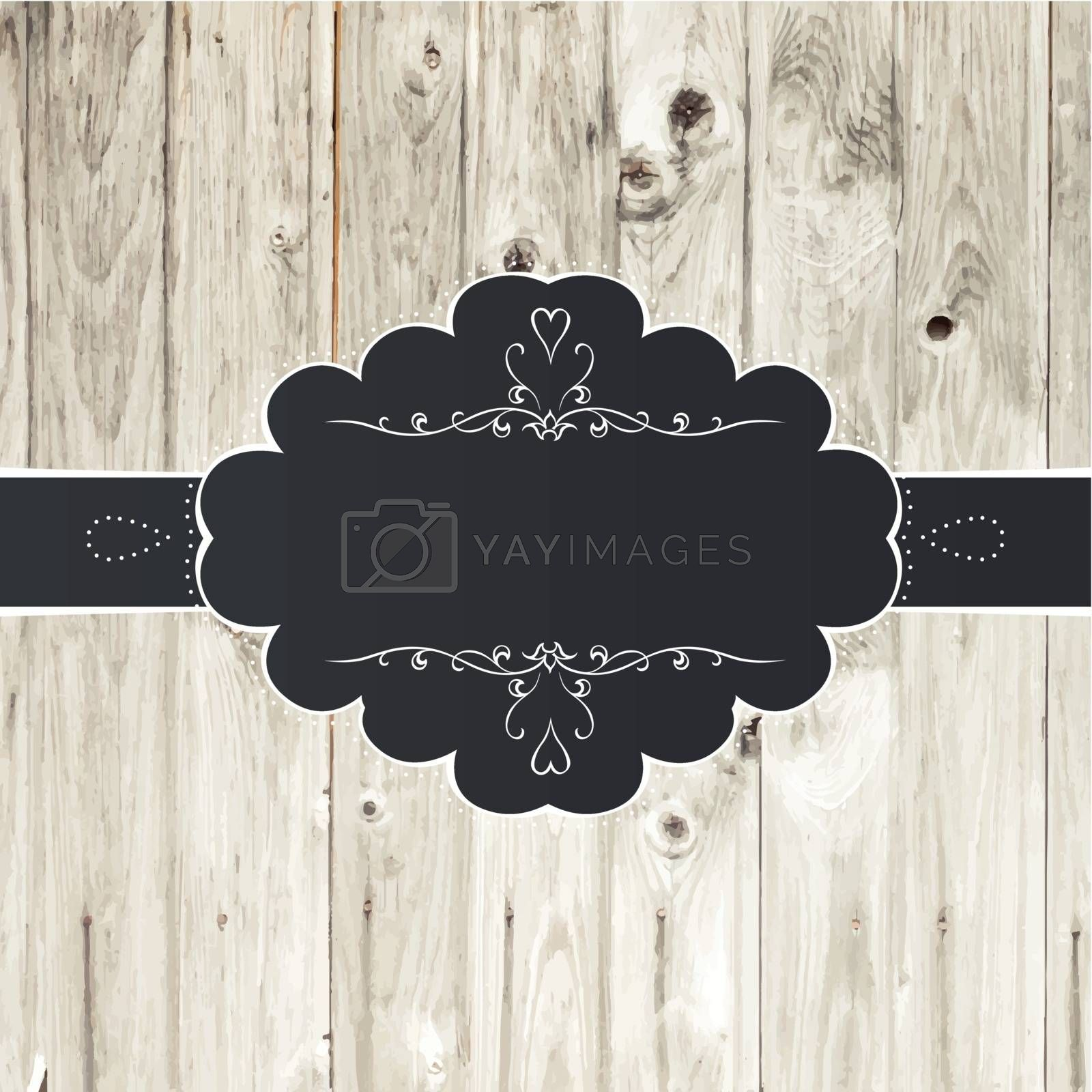 Royalty free image of Vintage Card Design with Label by pashabo