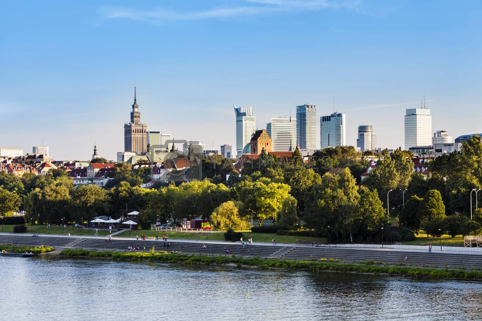 Royalty free image of Warsaw downtown at afternoon by filipw