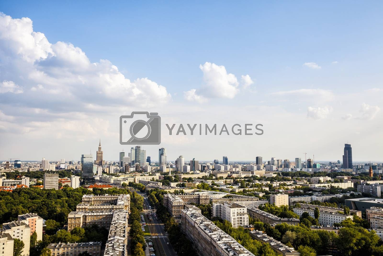 Royalty free image of Panorama of Warsaw by filipw