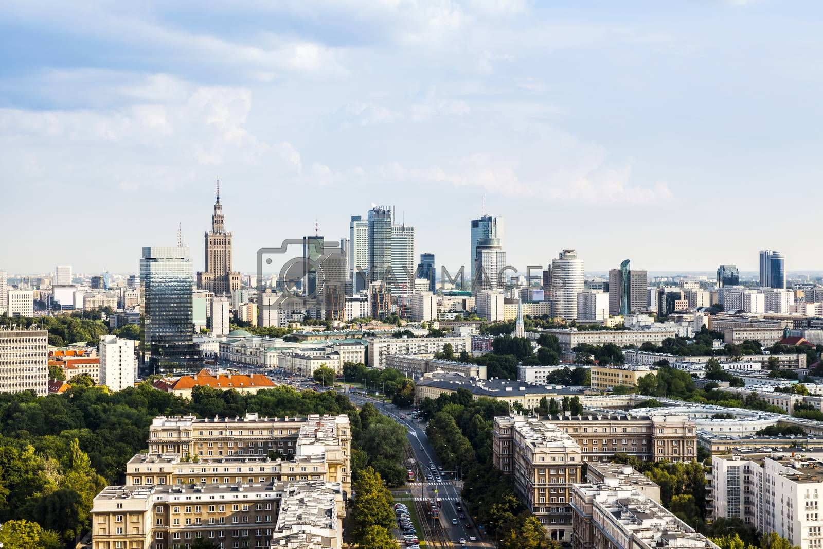 Royalty free image of Warsaw city center by filipw