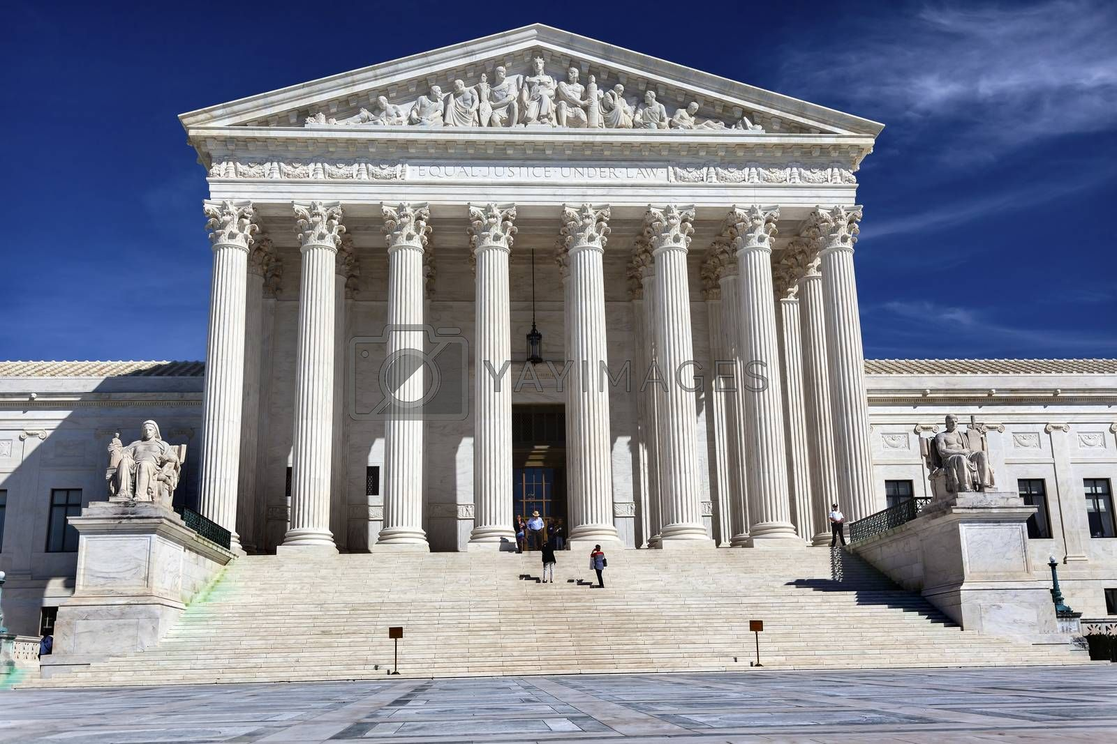 Royalty free image of US Supreme Court Capitol Hill Daytime Washington DC by bill_perry