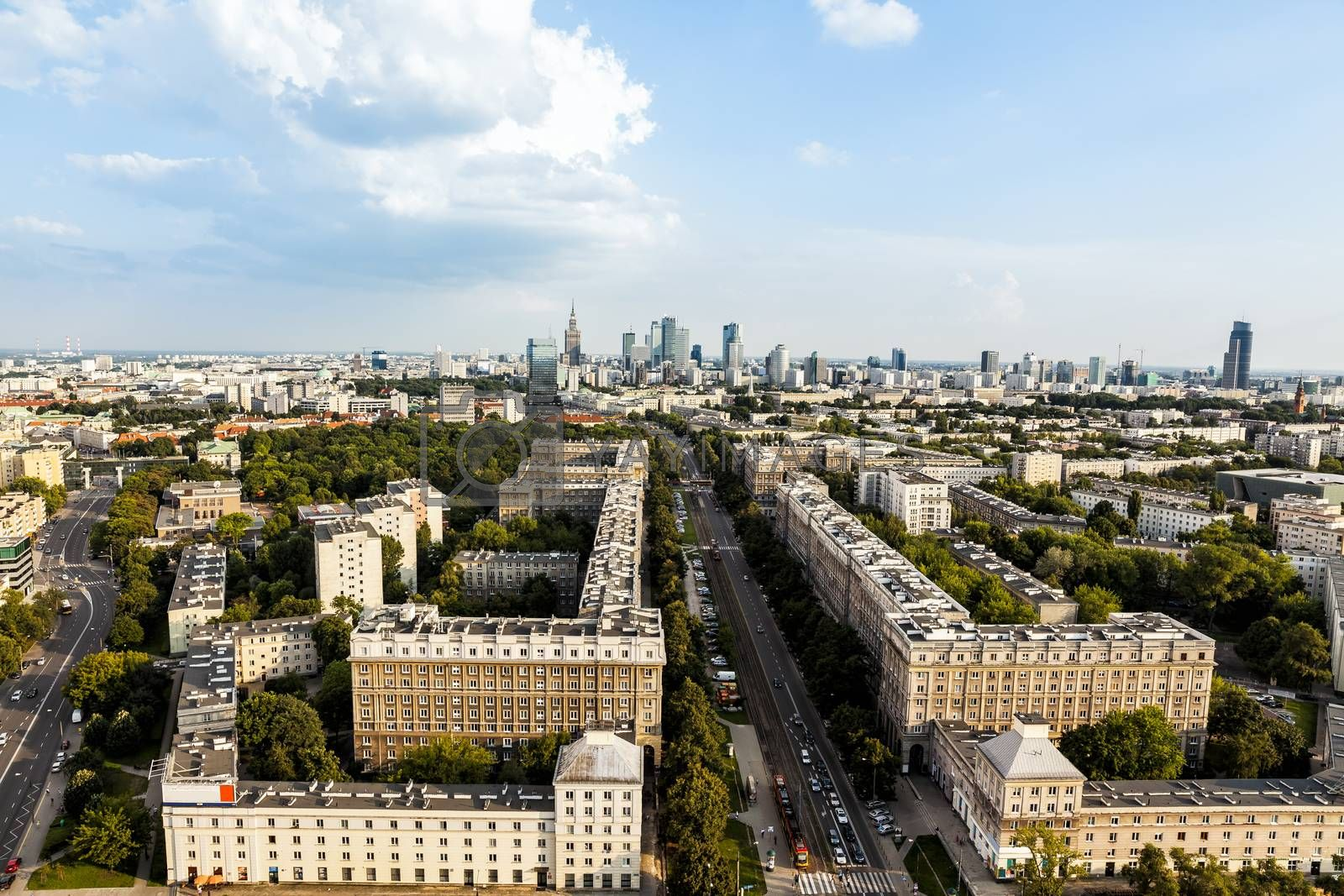 Royalty free image of Warsaw aerial view by filipw