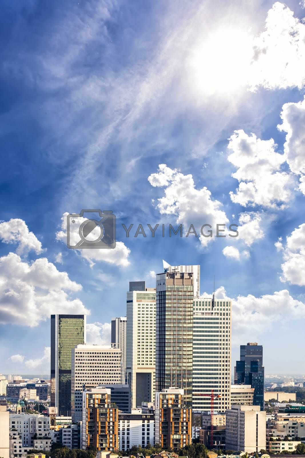 Royalty free image of Business district by filipw