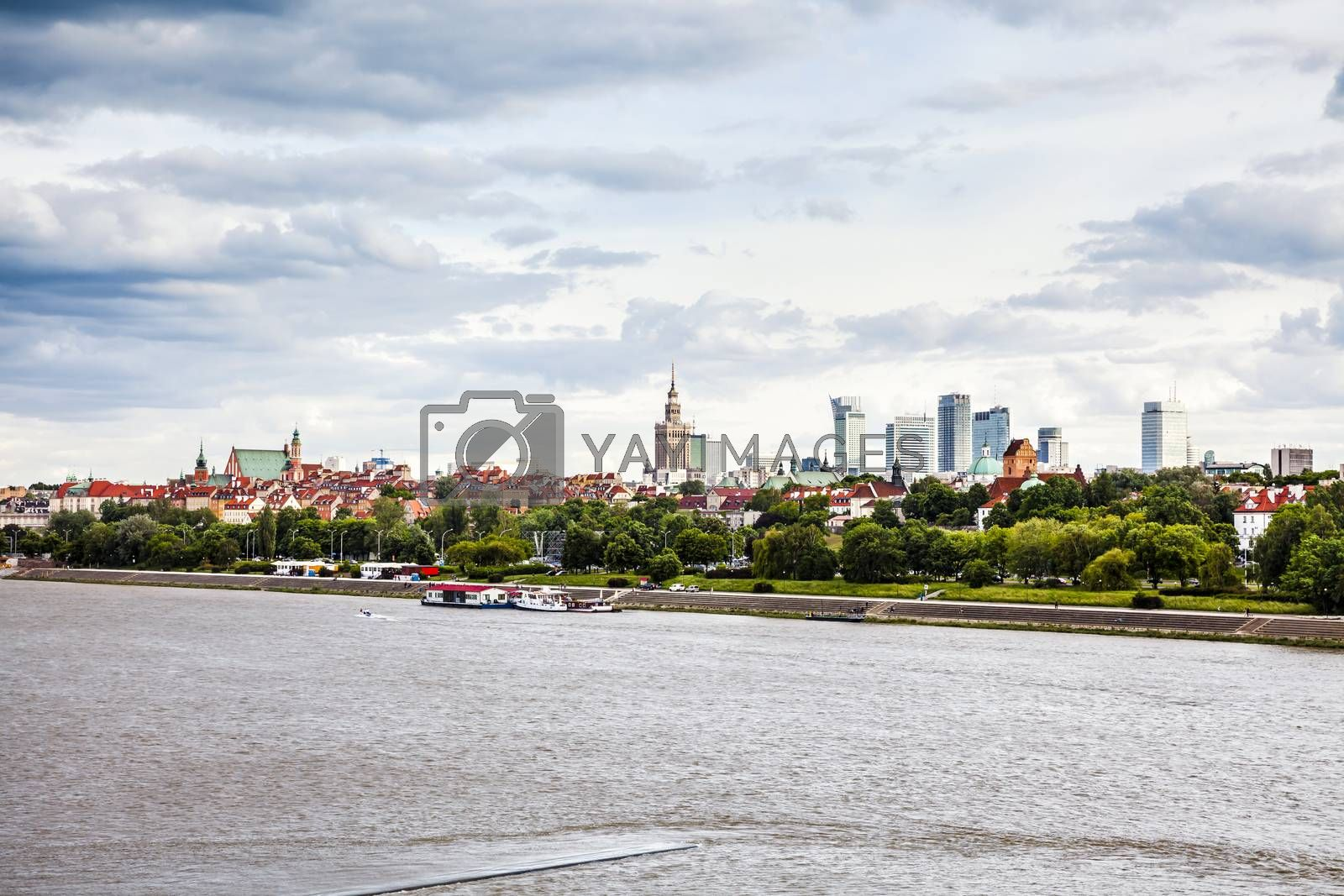 Warsaw downtown at afternoon by filipw