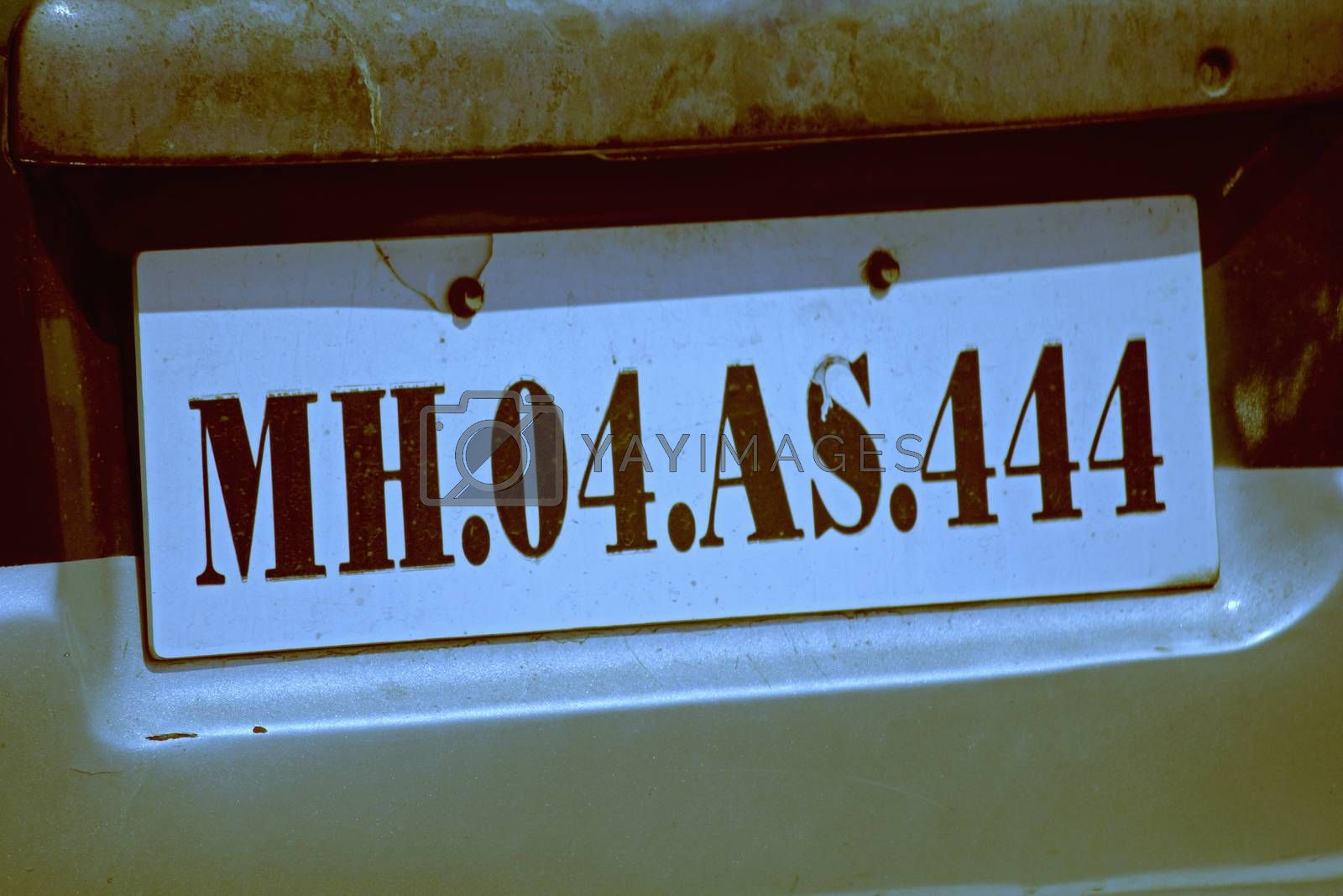 Close up of car Number Plate by yands