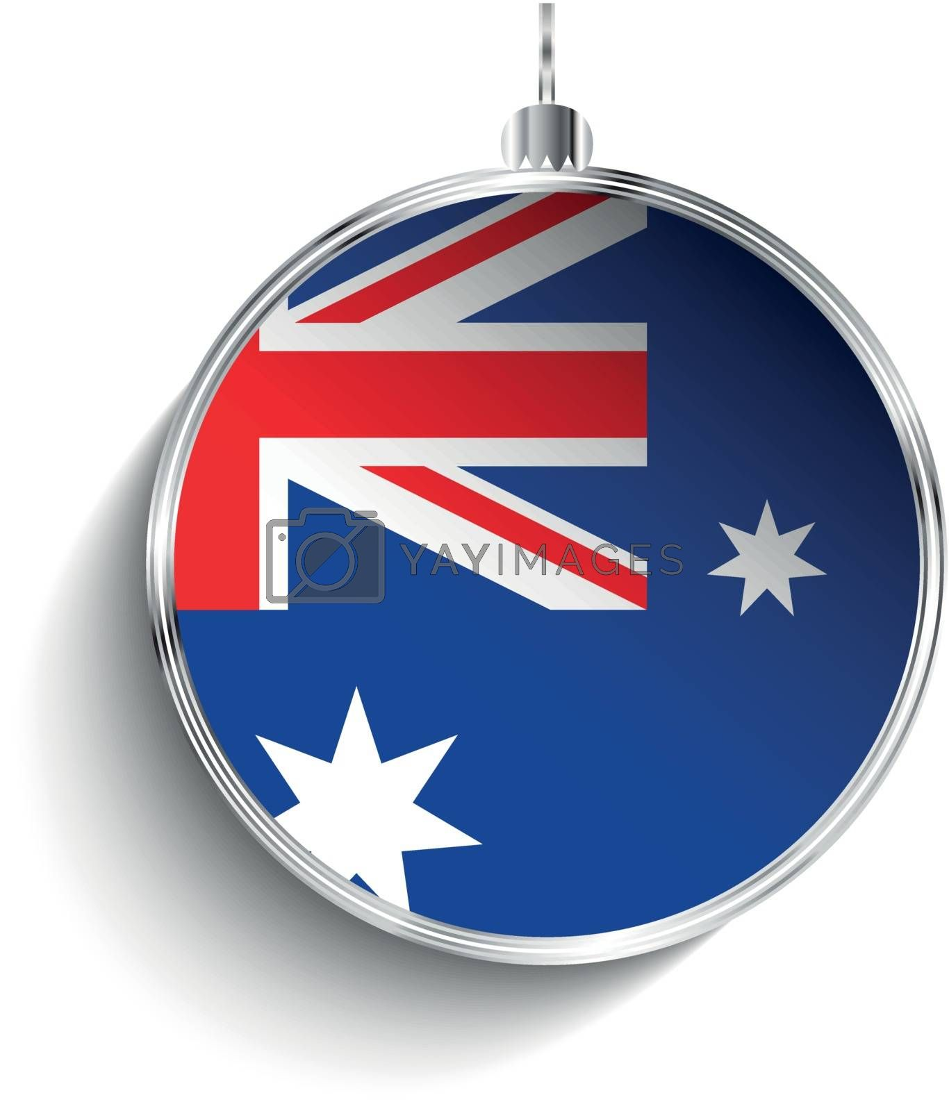 Royalty free image of Merry Christmas Silver Ball with Flag Australia by gubh83