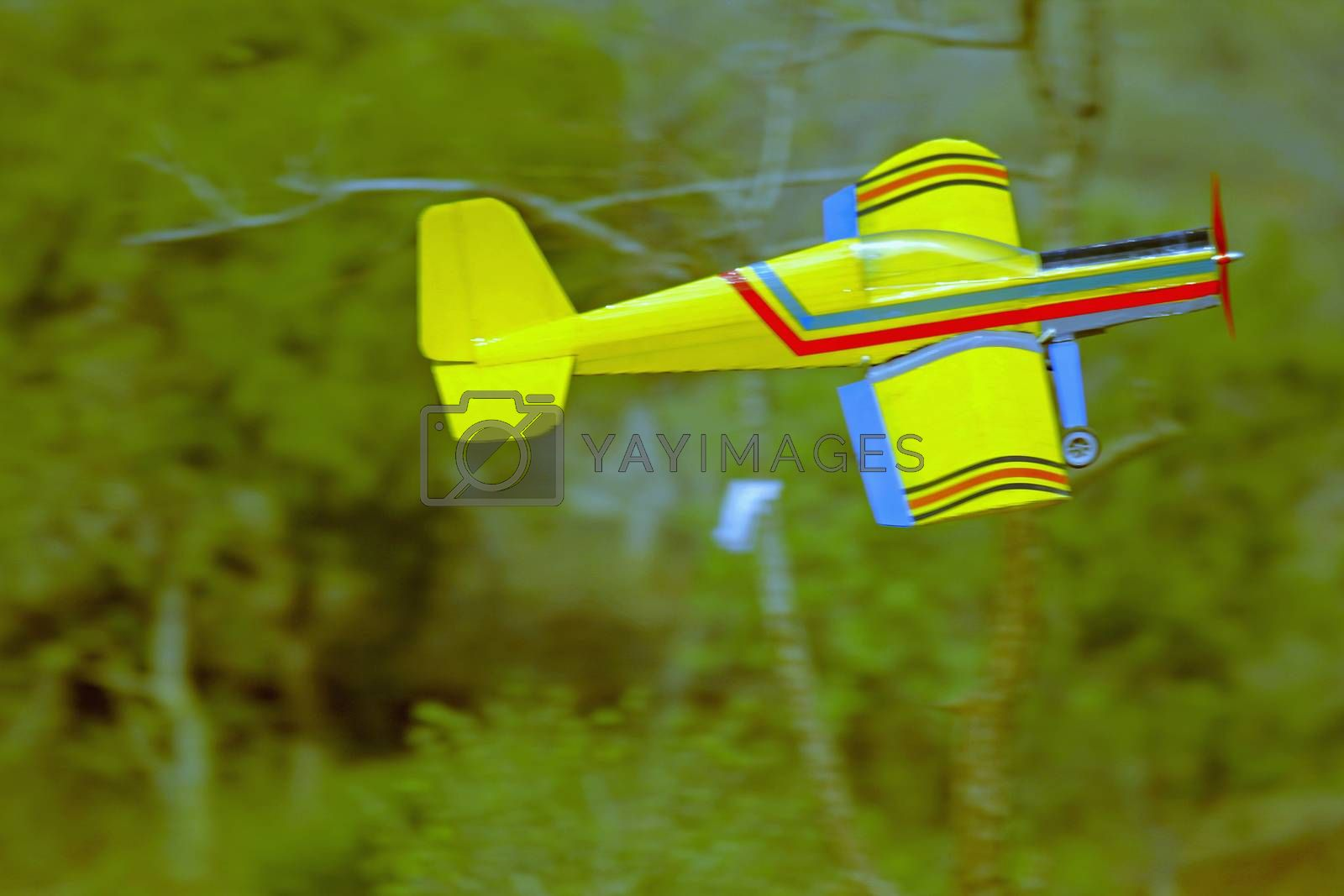 Royalty free image of RC model airplane take off by yands