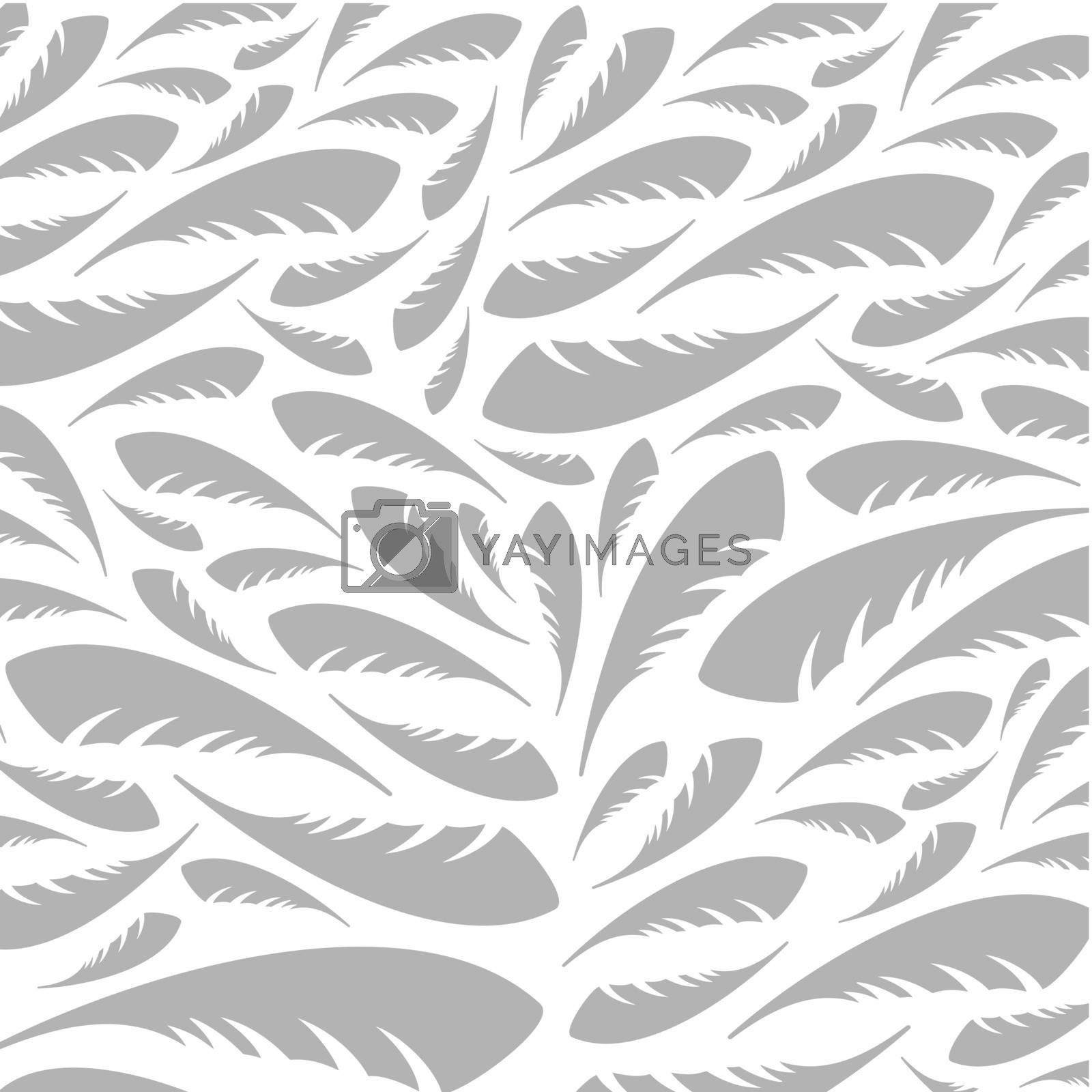 Background made of feathers. A vector illustration