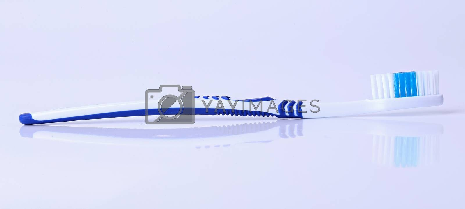 Healthcare. Toothbrush on a white background