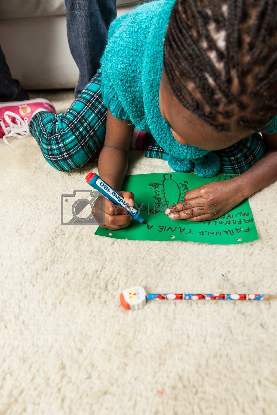 Girl writing letter to Santa by ifilms