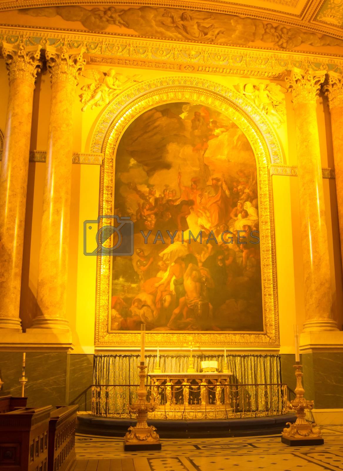 Painting inside greenwich chapel