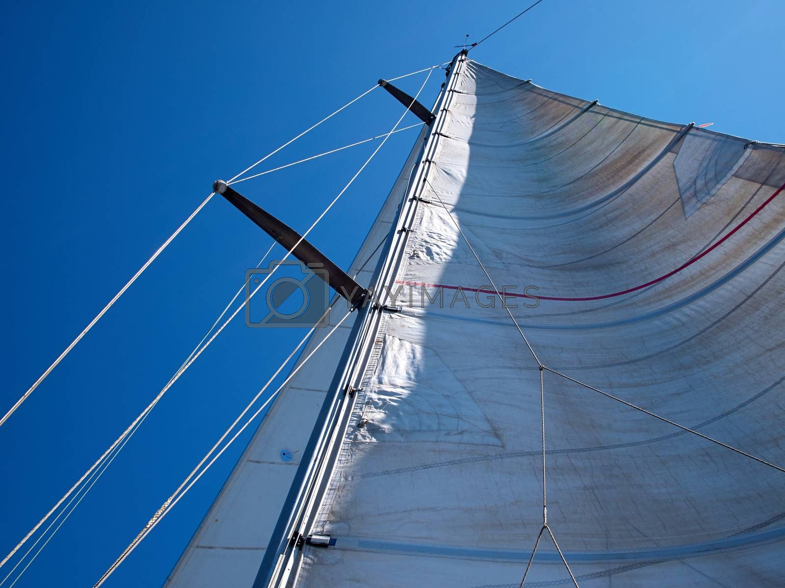 Sail of a sailing boat against sky great sea sport image