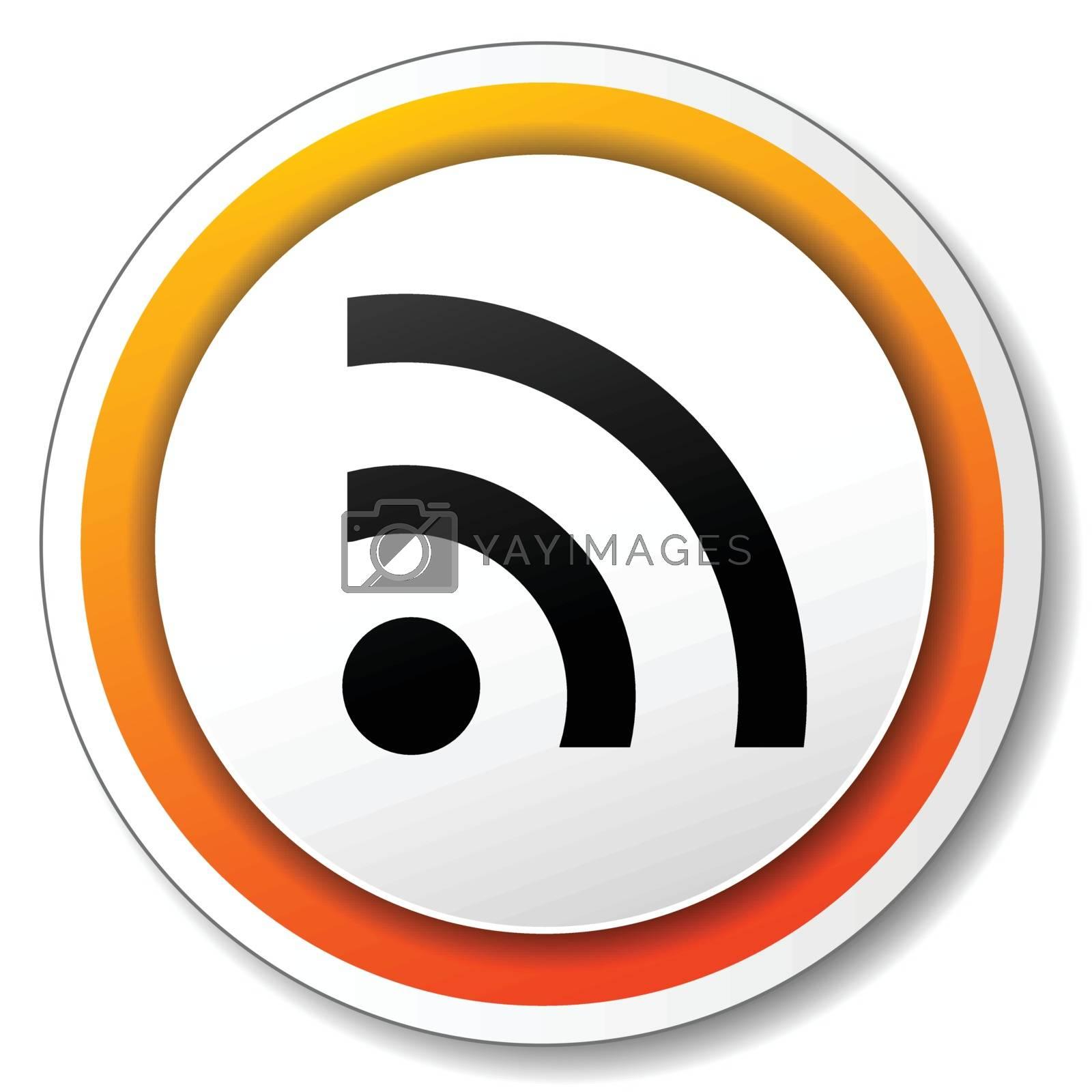 illustration of white and orange icon for wifi