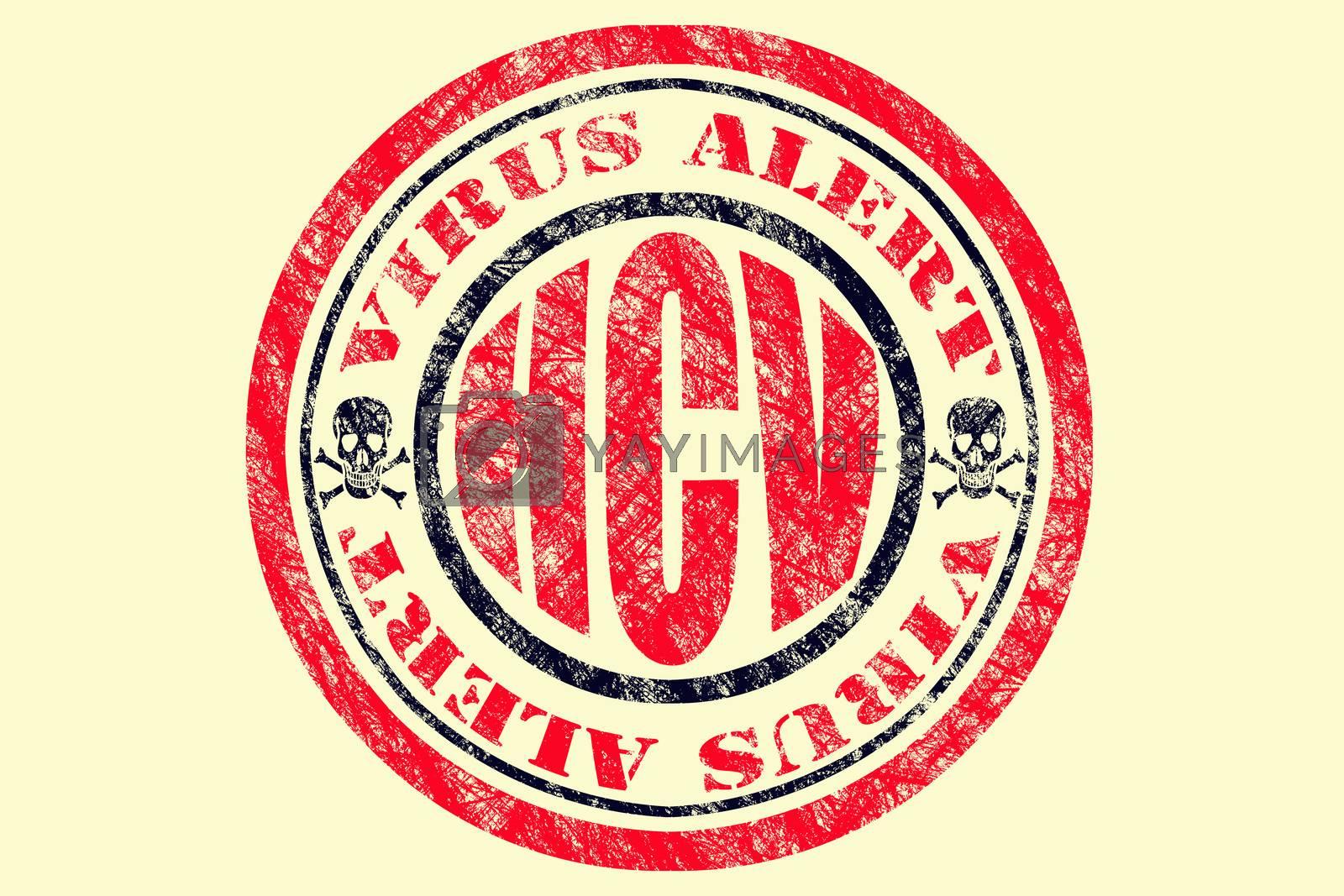 HCV Virus Alert Concept