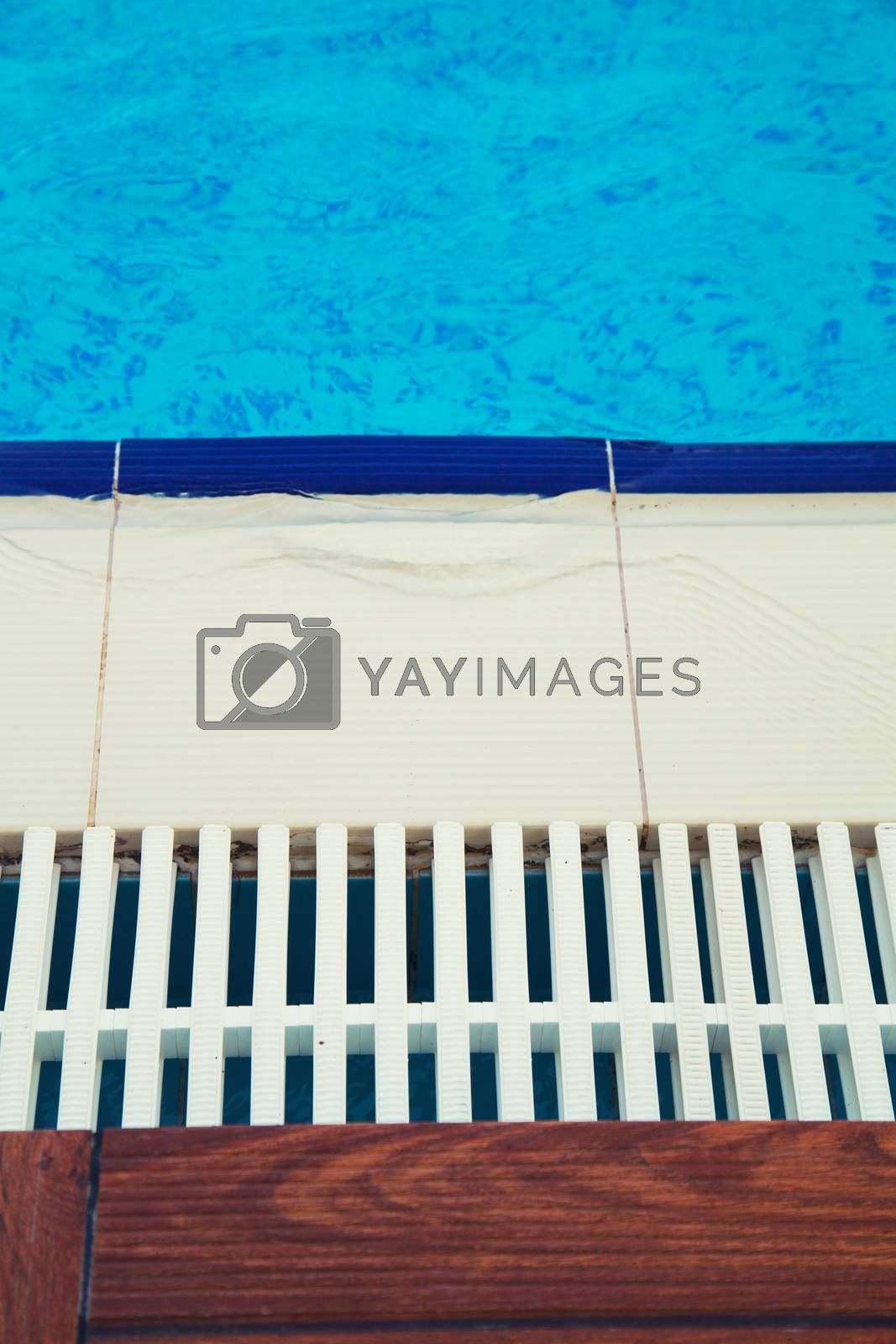 Blue water in a swimming pool. Background