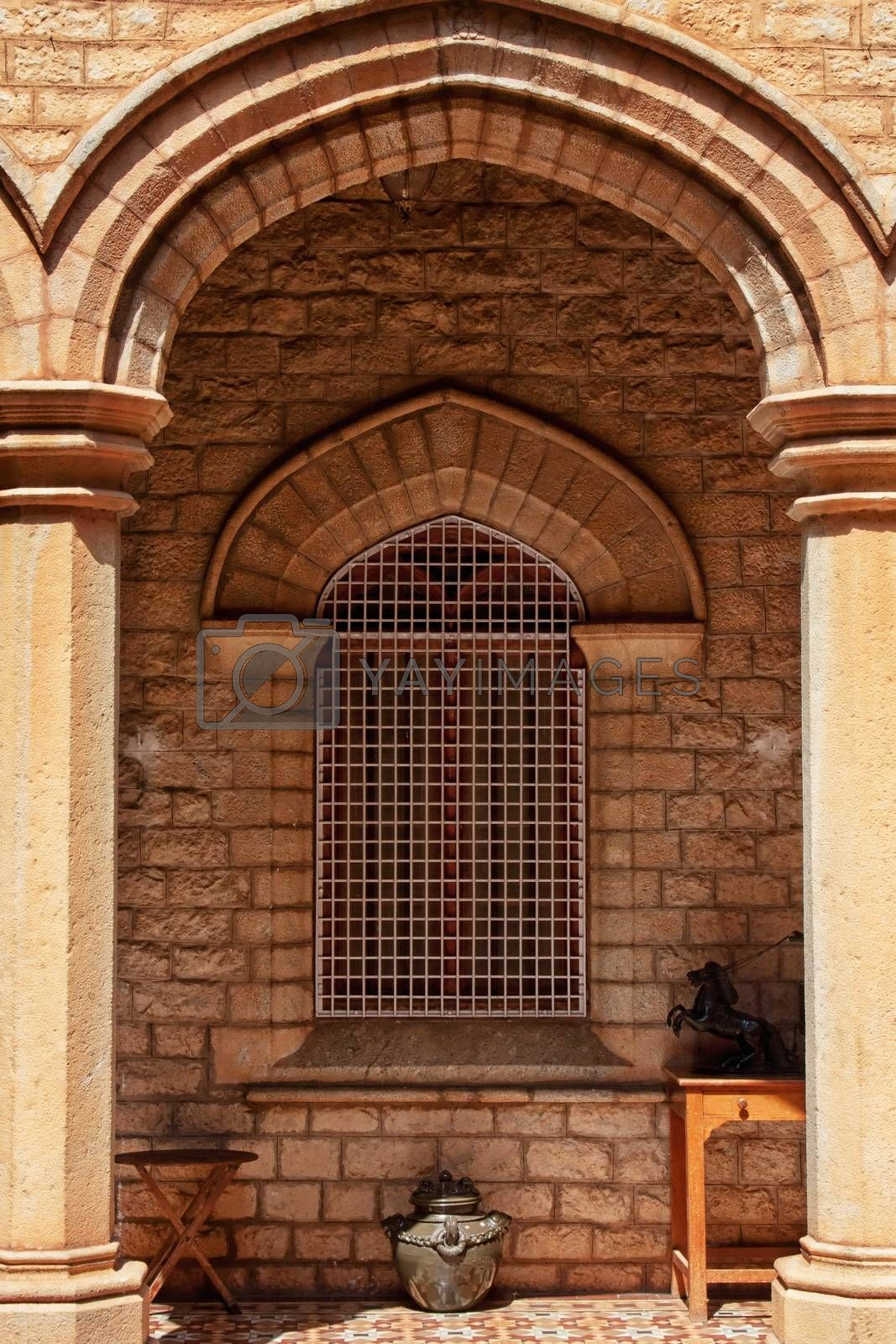 Window in old indian palace