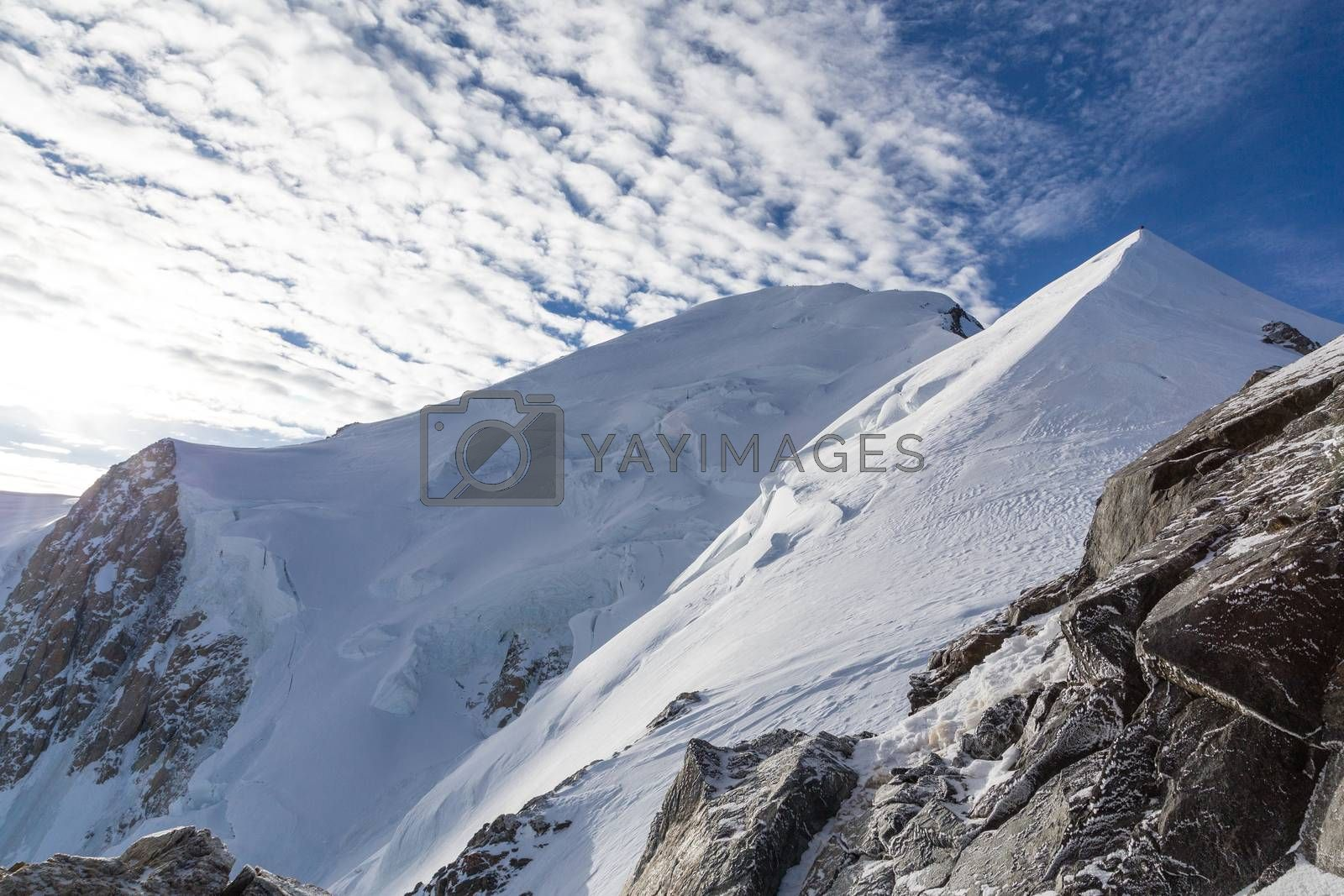 Mont Blanc in France during climb to the summit