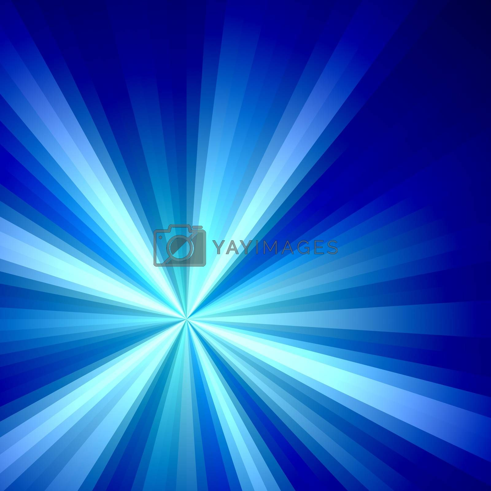 A bright fractal solar burst illustration in tons of blue and purple that works great as a design element.
