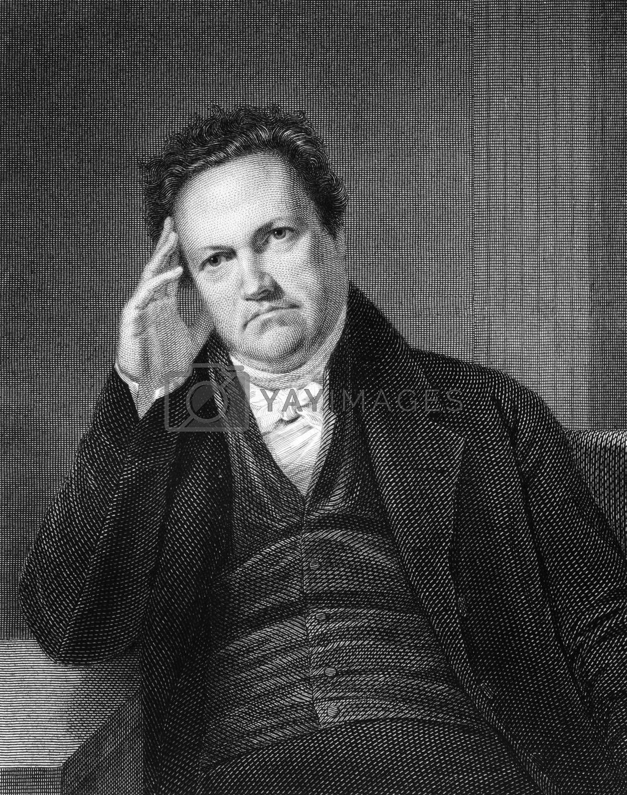 DeWitt Clinton (1769-1828) on engraving from 1835. American politician and naturalist who served as a United States Senator and 6th Governor of New York. Engraved by A.B.Durrand and published in''National Portrait Gallery of Distinguished Americans Volume II'',USA,1835.