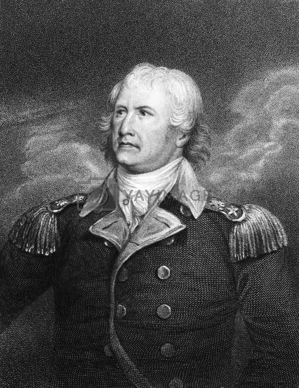 William Moultrie (1730-1805) on engraving from 1834. Planter and politician who became a general from South Carolina in the American Revolutionary War. Engraved by E. Scriven and published in ''National Portrait Gallery of Distinguished Americans'',USA,1834.