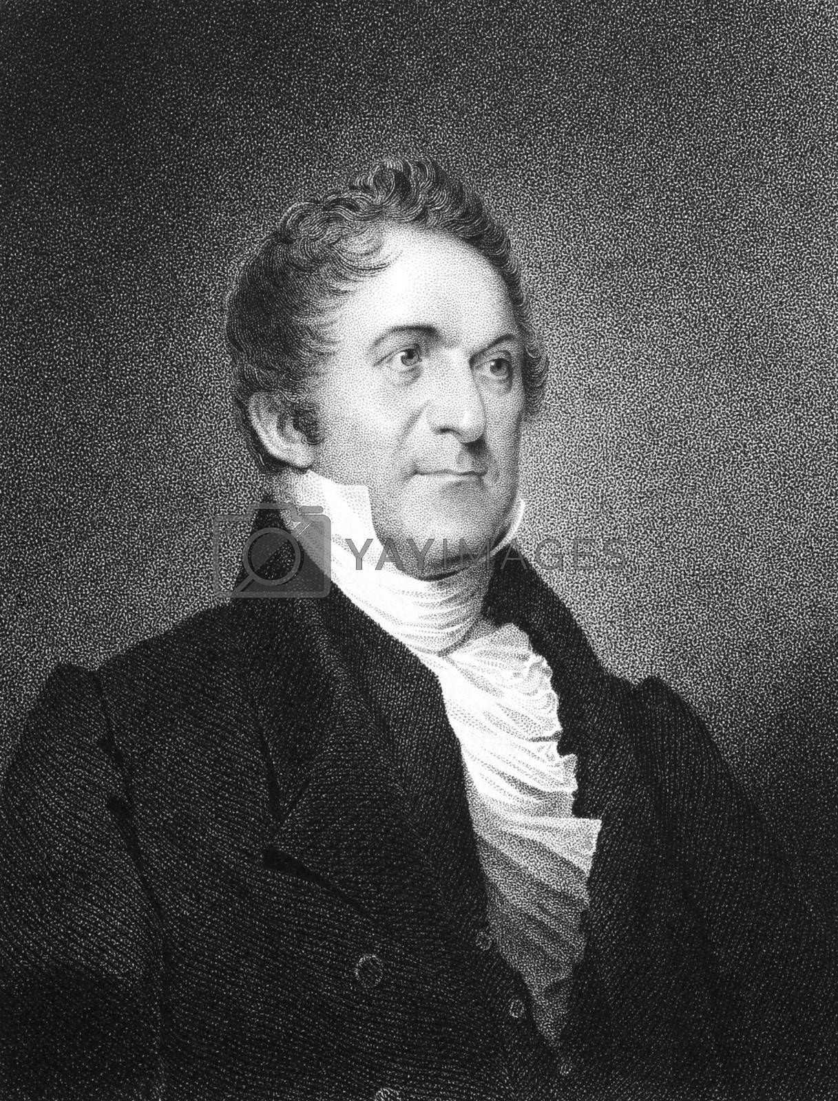 William Wirt (1772-1834) on engraving from 1834.  American author and statesman. Engraved by J.B Longacre and published in ''National Portrait Gallery of Distinguished Americans'',USA,1834.