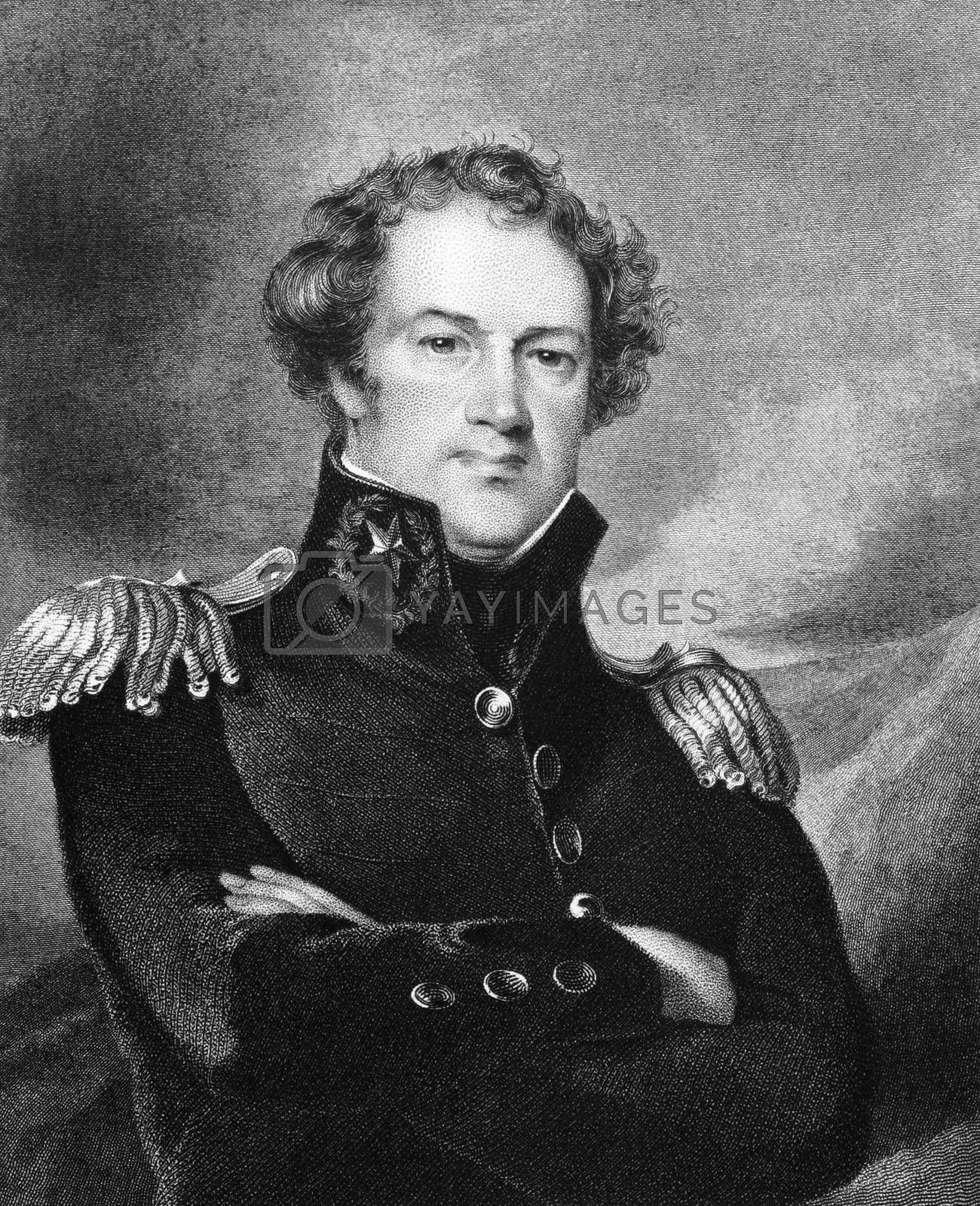 Alexander Macomb (1782-1841) on engraving from 1834. Commanding General of the United States Army during 1828-1841. Engraved by J.B Longacre and published in ''National Portrait Gallery of Distinguished Americans'',USA,1834.
