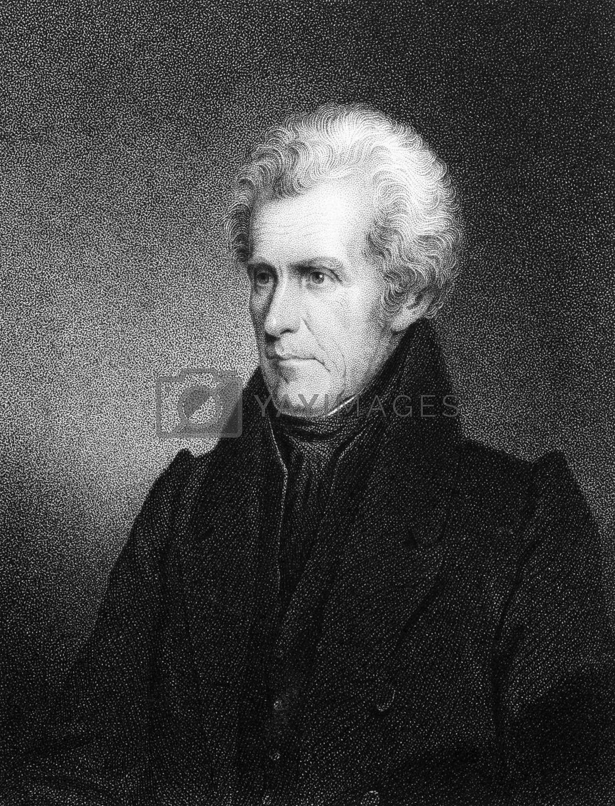 Andrew Jackson (1767-1845) on engraving from 1834. 7th President of the United States during 1829-1837. Engraved by J.B Longacre and published in ''National Portrait Gallery of Distinguished Americans'',USA,1834.