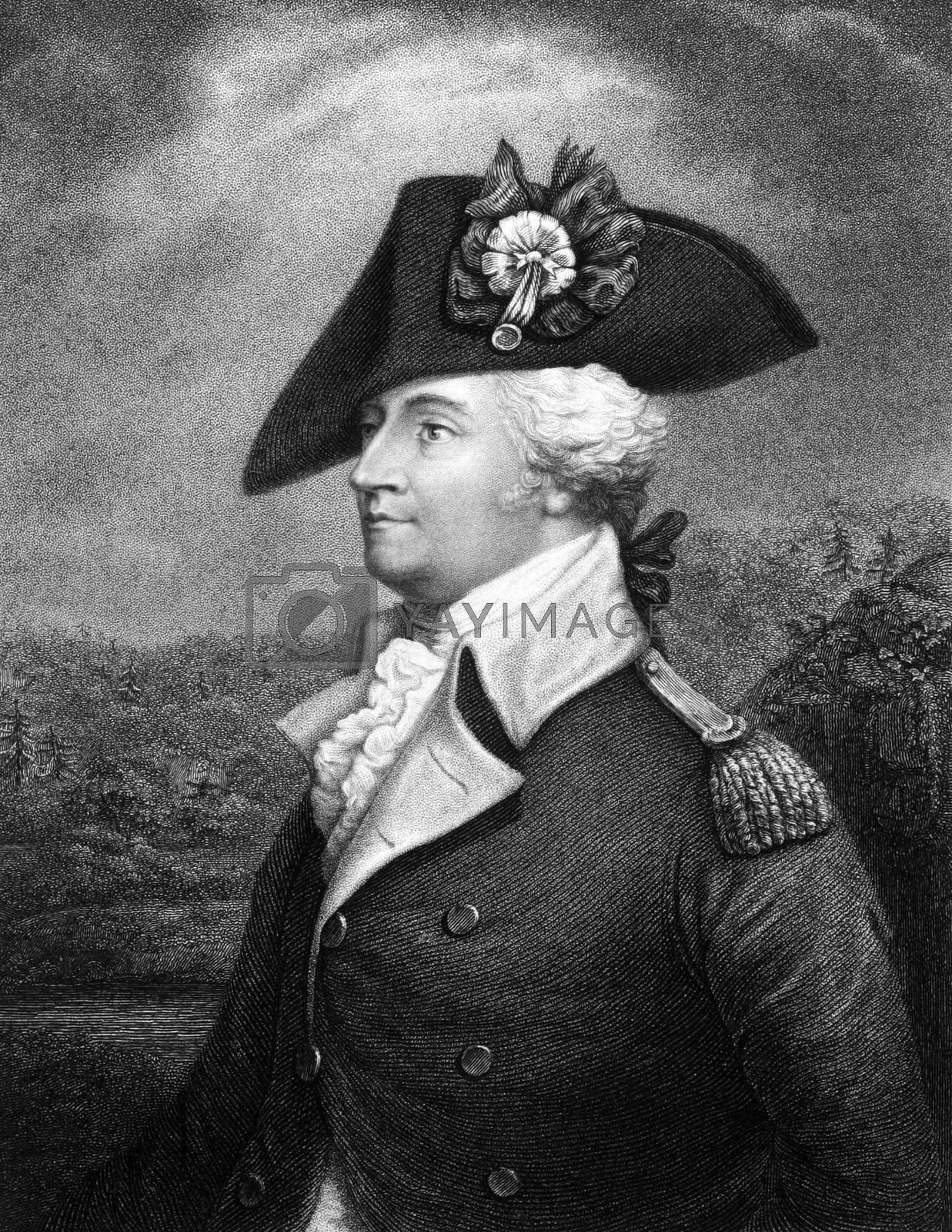 Anthony Wayne (1745-1796) on engraving from 1834.  United States Army officer, statesman and member of the House of Representatives. Engraved by E. Prudhomnie and published in ''National Portrait Gallery of Distinguished Americans'',USA,1834.