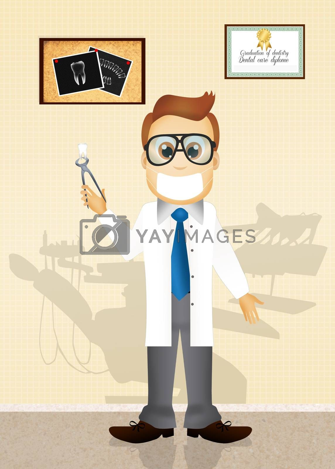 illustration of dentist