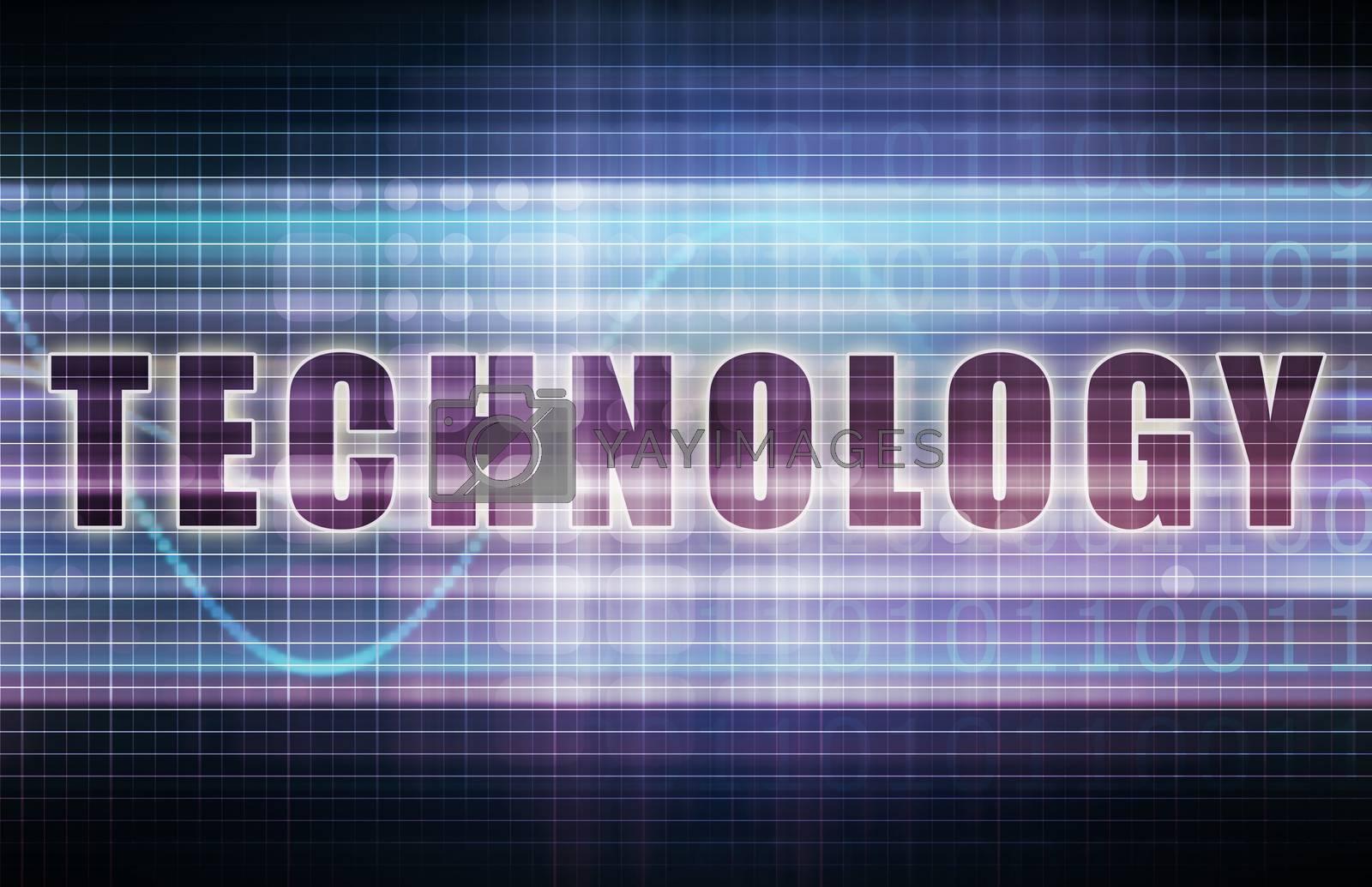 Technology on a Tech Business Chart Art