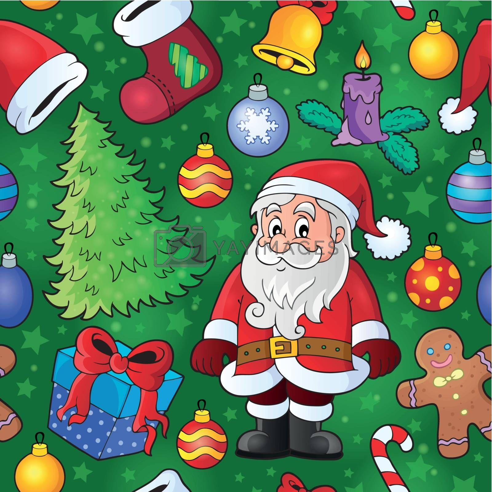 Christmas seamless background 8 - eps10 vector illustration.