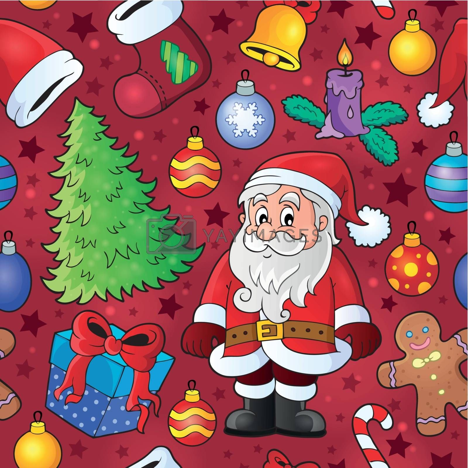 Christmas seamless background 7 - eps10 vector illustration.