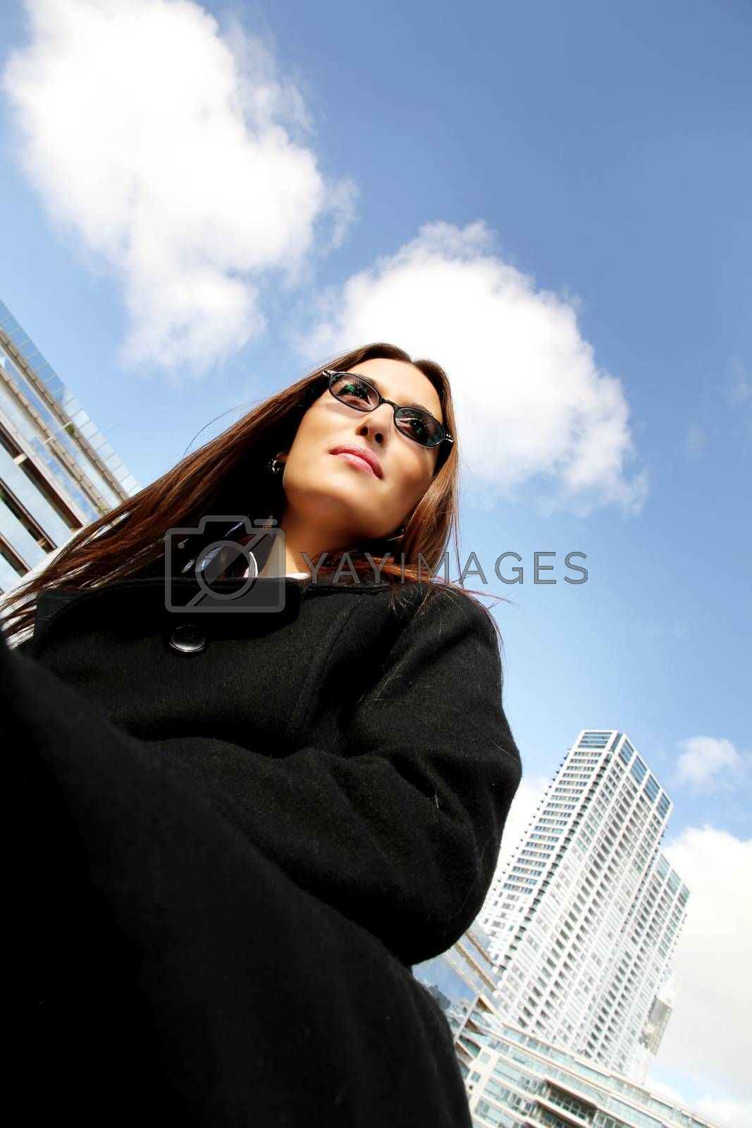 Portrait of a business woman in Puerto Madero, Buenos Aires, Argentina.