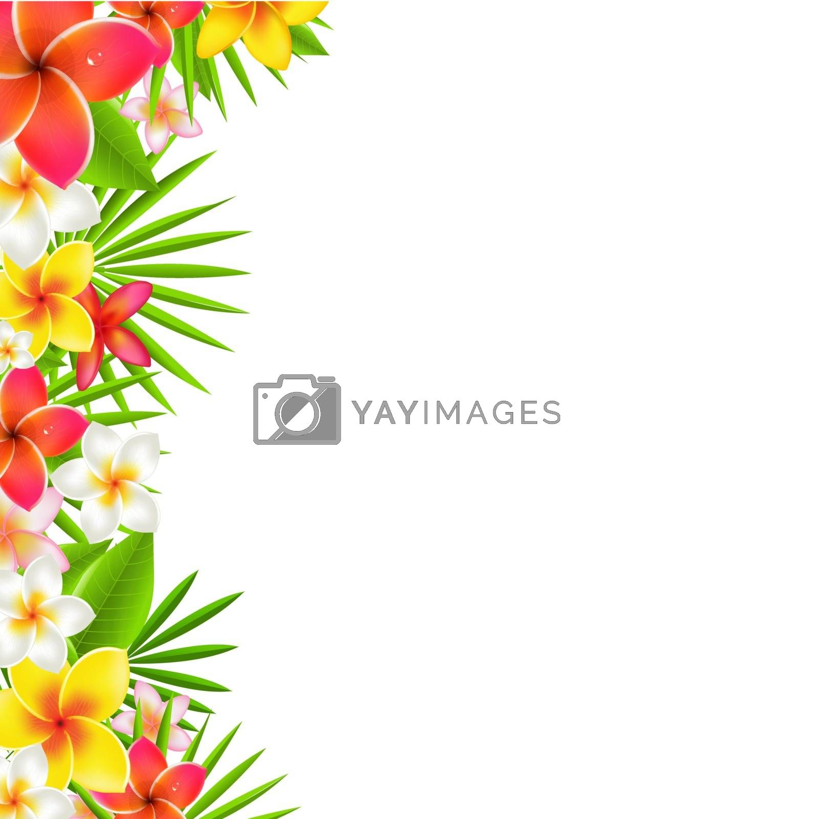 Flowers Border, With Gradient Mesh, Vector Illustration