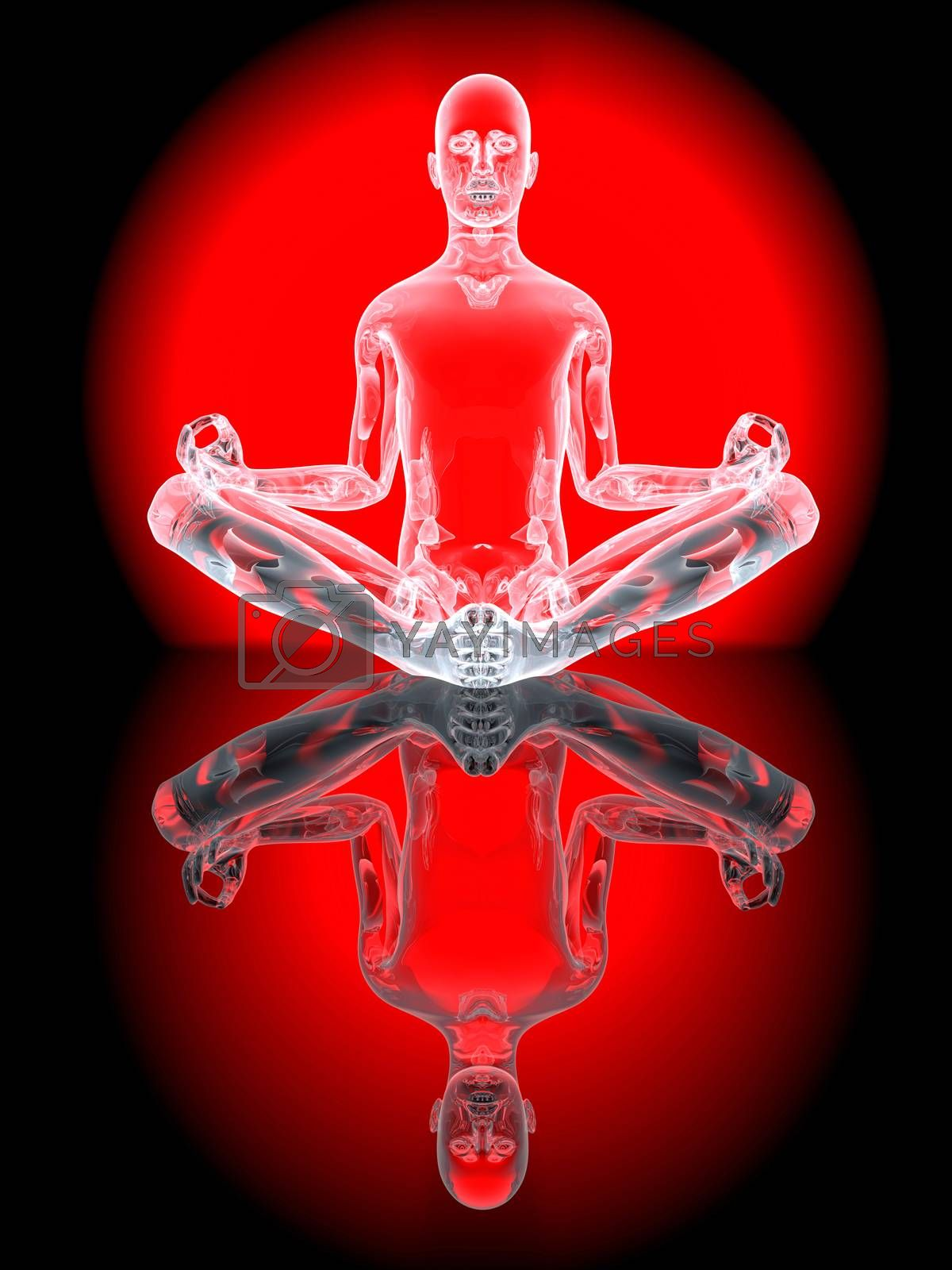 Yoga Meditation pose by Spectral