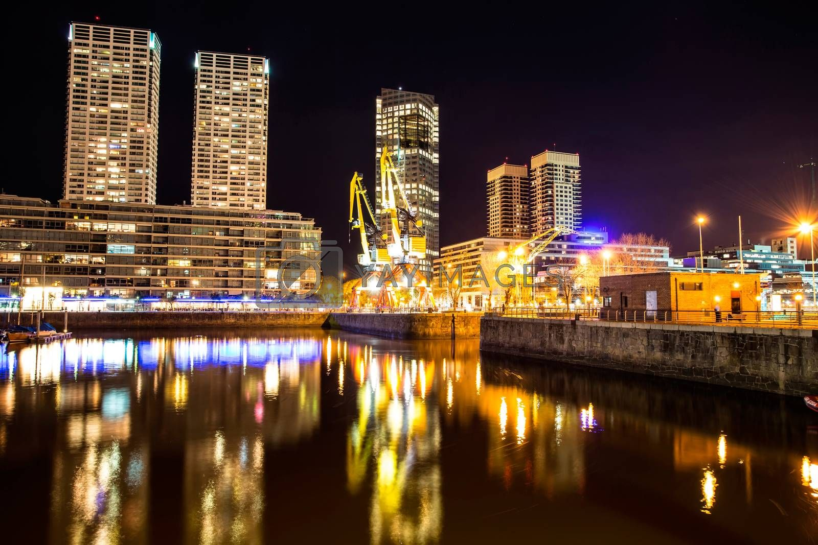 Puerto Madero in Buenos Aires at night		 by Spectral