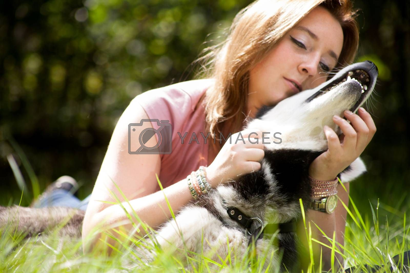 Dog and owner by DNFStyle