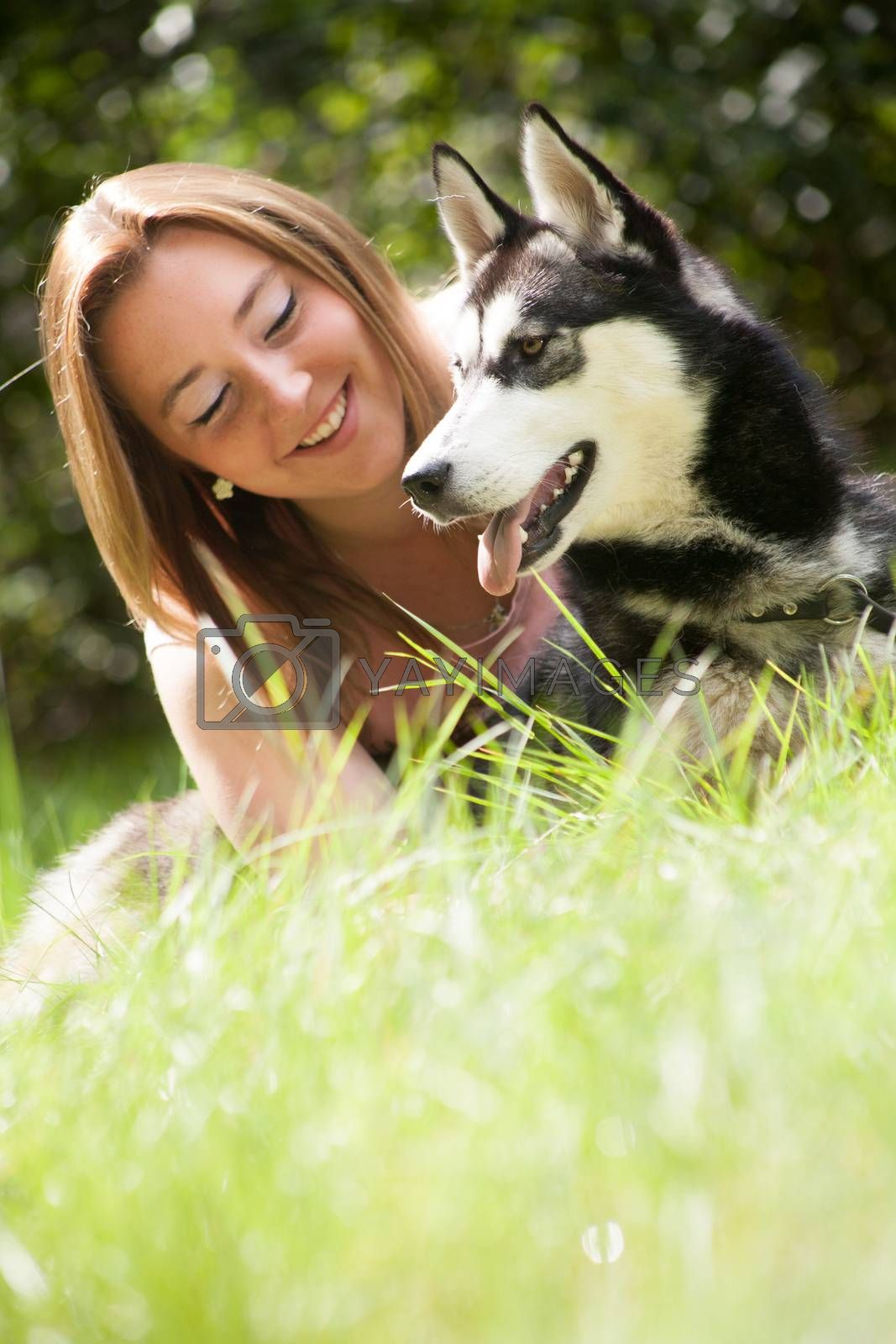 smile with her dog by DNFStyle