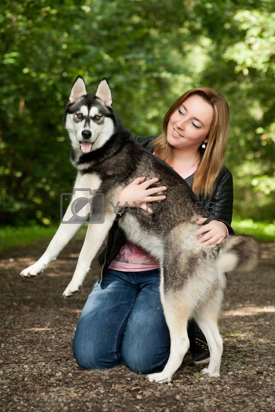Bond girl and her husky by DNFStyle