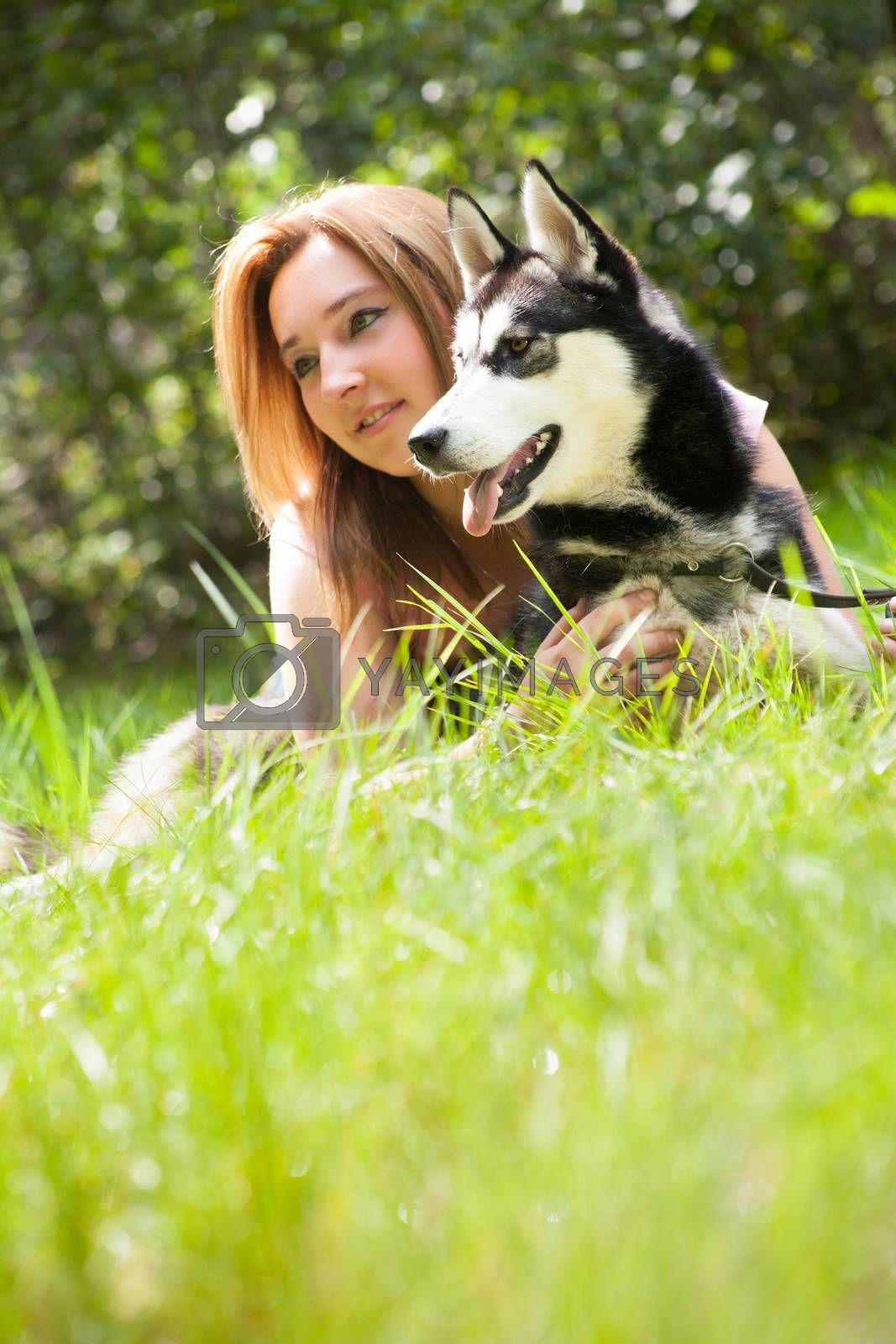 portrait of dog and owner by DNFStyle